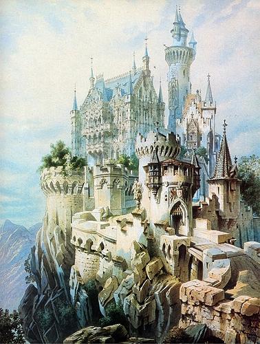 Schloss_Falkenstein_Planung_Gem%C3%A4lde_Historismus_Ludwig