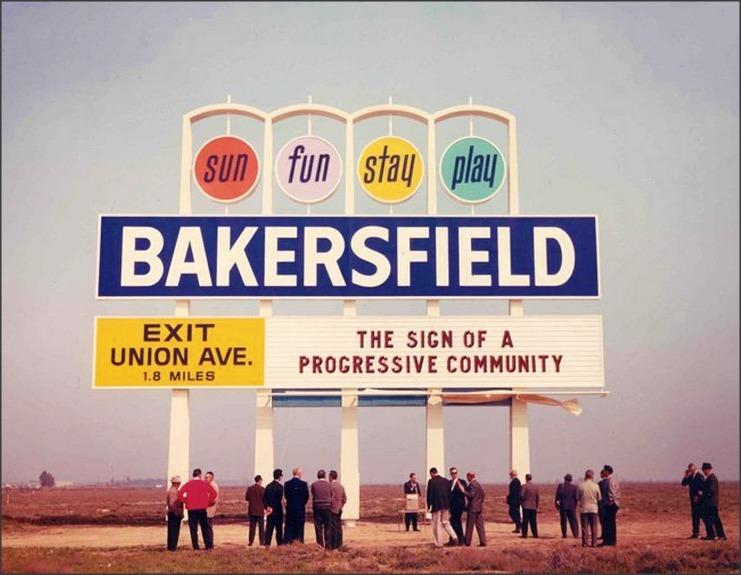 Bakersfield California Sign, c.1960s